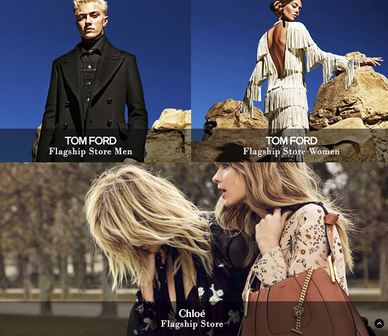 WEBSITE & APP for Fashion Stores MARION HEINRICH, TOM FORD and CHLOÉ